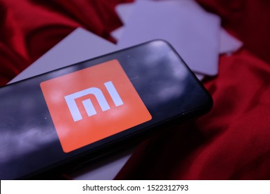 Smart phone with the logo of Xiaomi Inc. which is a Chinese company dedicated to the design, development and sale of smartphones. United States, New York, Thursday, October 4, 2019.