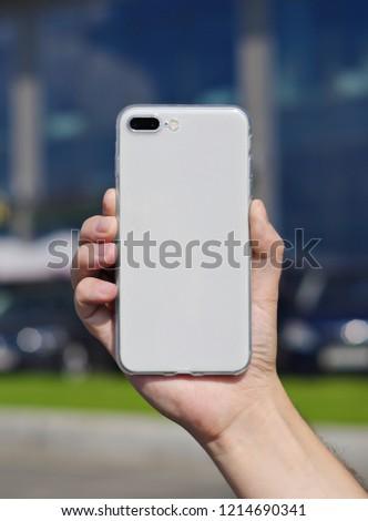 iphone 8 blurred background photo