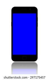 smart phone on white background