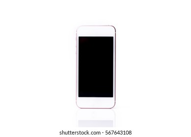 Smart phone on white background