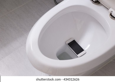 smart phone wet fell in the toilet bowl.