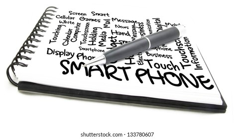 smart phone word cloud notes