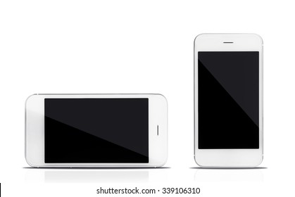 Smart phones,  isolated on white