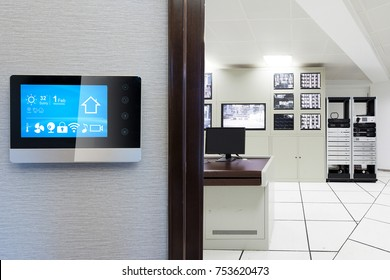 smart screen with smart home and control center of factory