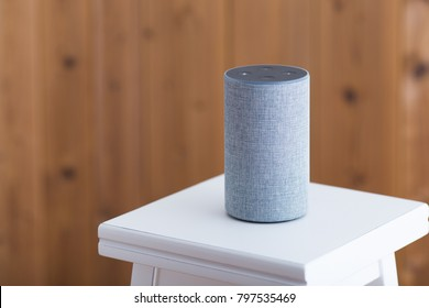 Smart speaker on the stool