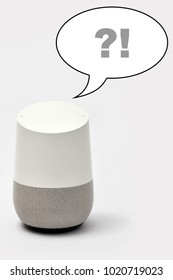 Smart Speaker with question/answer speech bubble
