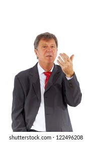smart succesful business man with red tie