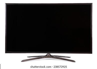 Smart tv led  monitor isolated on white