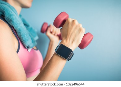 Smart watch, fitness, health, and exercise concept.