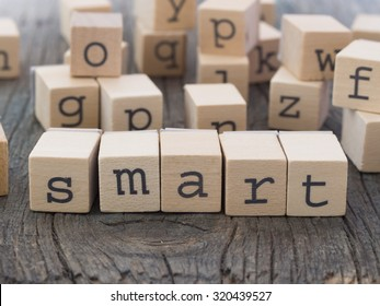 SMART word made of wooden letters