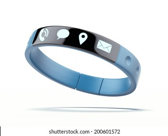 Smart wristband isolated on a white background.