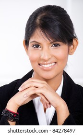 smart young indian businesswoman closeup portrait