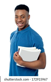 Smart young student ready to attend class