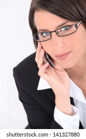 Smart young woman wearing glasses