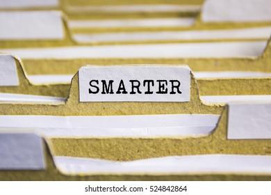 Smarter word on card index paper