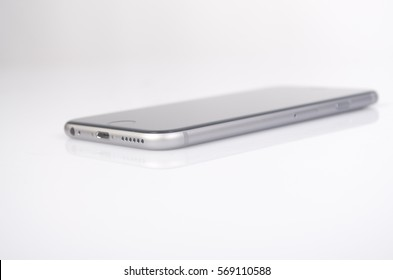 smartphone apple iphone on white background