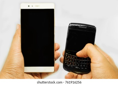 Smartphone with Blackberry mobile
