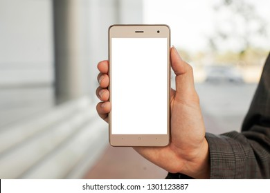 Smartphone and blurred background