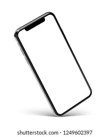 Smartphone frame less blank screen - rotated position