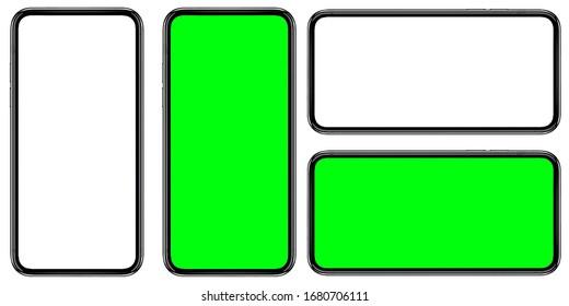 Die Form eines modernen Smartphones, das für einen schlanken Rand konzipiert wurde.