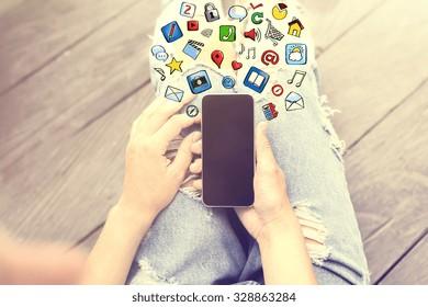 Concepto de idea de Smartphone