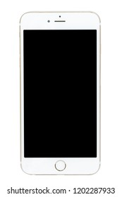 smartphone isolated on over black background.