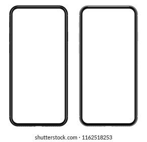 Smartphone isolated on white background.