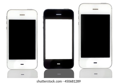 smartphone isolated on white background,