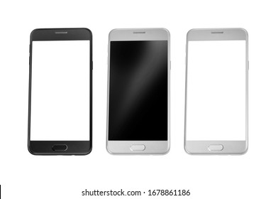 Smartphone, mobile phone isolated with blank screen with clipping path