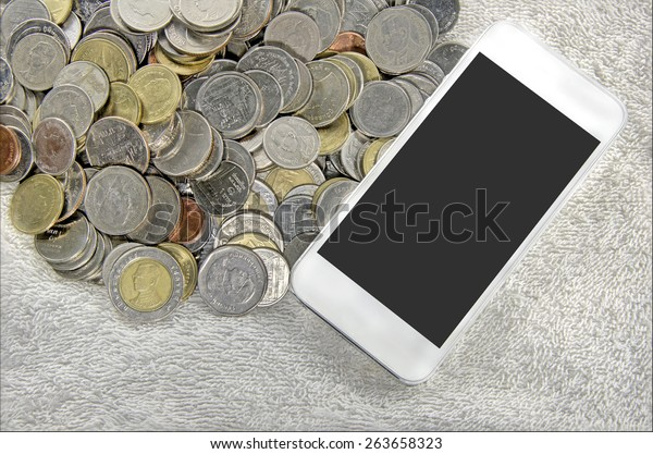 smartphone on a coins