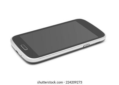 smartphone on white background closeup