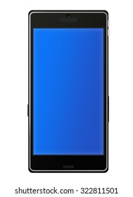 Smartphone on a white background. Raster