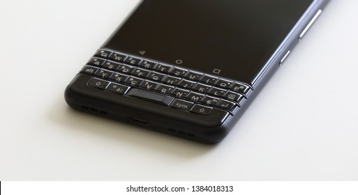 Smartphone qwerty keypad / keyboard with touch / touch pad and swipe gestures abstract mobile