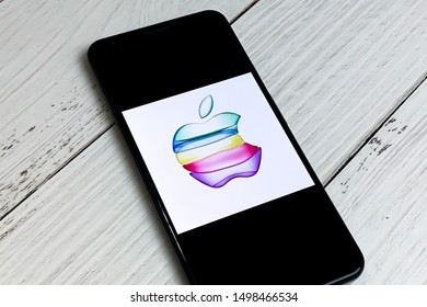 Smartphone showing Apple Event Logo on the screen. Apple will have the annual event where it will unveil new iPhone products. Manhattan, New York, USA September 7, 2019.