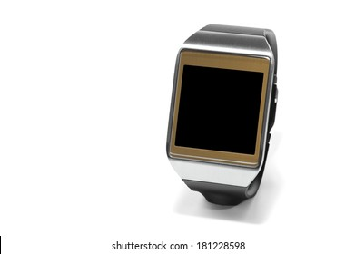 Smartwatch with black screen as the concept of portable technology