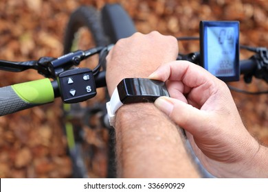 A Smart-watch and a E-Mountain-bike