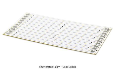 SMD LEDs on White PCB, Commercial and Industrial LED Light LED Assembly, LED Tube PCB, LED Lighting