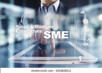 SME, Small and medium-sized enterprises. Business model. KEY TO SUCCESS concept.