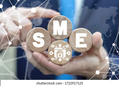 SME Small and Medium-sized Enterprises Concept. Business model. Key to success.