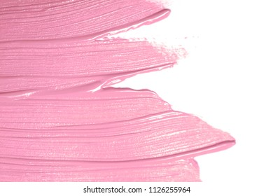 smear paint or cream isolated on white background. Cosmetic texture