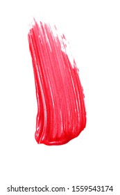 smears of red lipgloss isolated on white. professional make up cosmetics