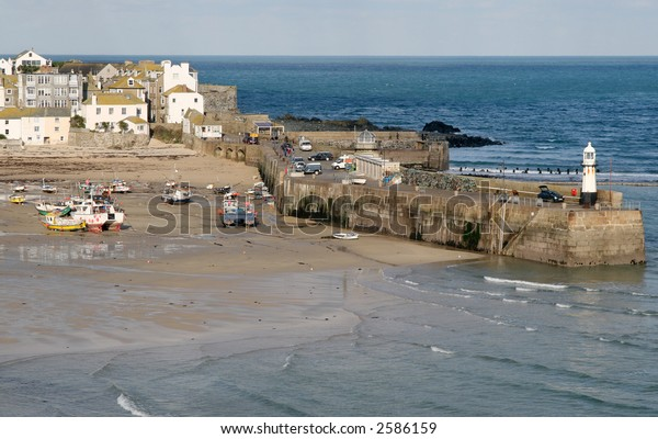 Smeaton's pier and the harbor, St. Ives, Cornwall.