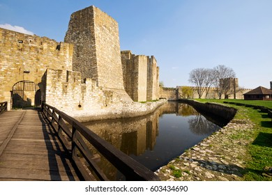 Smederevo fortress (XV century), the entrance to a small town. Serbia