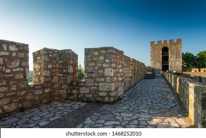 SMEDEREVO, SERBIA – JULY 24: Smederevo Fortress, one of Europe's largest fortifications, on 24 July 2019 in Semderevo, Serbia