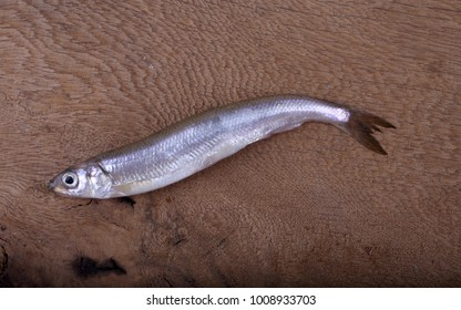 Smelt fish on table