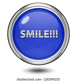 Smile circular icon on white background
