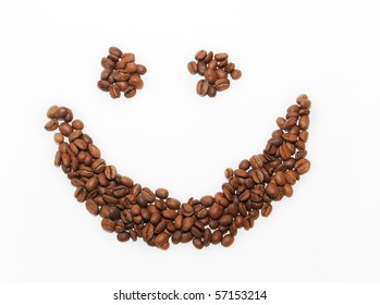 Smile from coffee beans