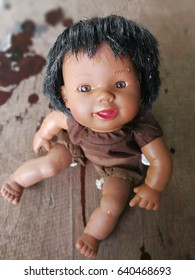 Smile and cry vintage doll