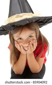 smile girl dressed  for Halloween