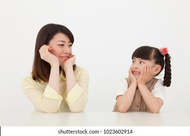 Smile of japanese women and girls